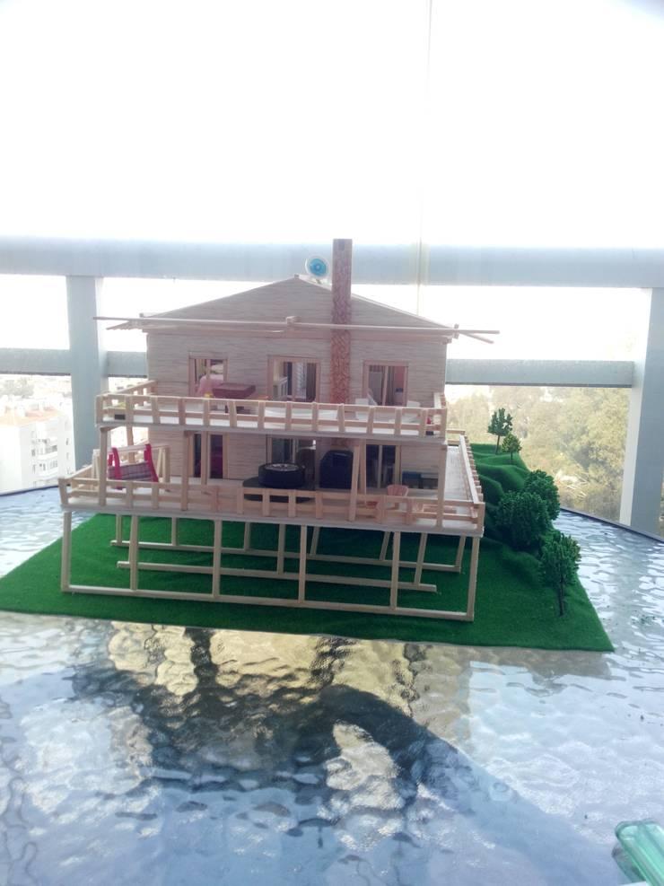 Fetirim İç Mimarlık ve Dekorasyon – Projeden makete:  tarz Evler