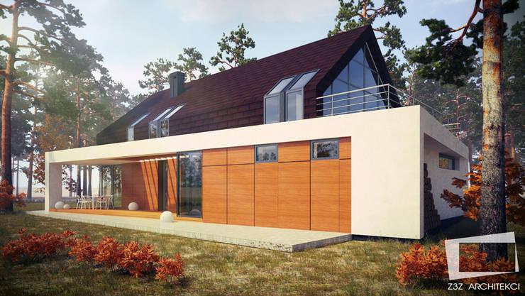 Casas modernas de Z3Z ARCHITEKCI Moderno Madera Acabado en madera