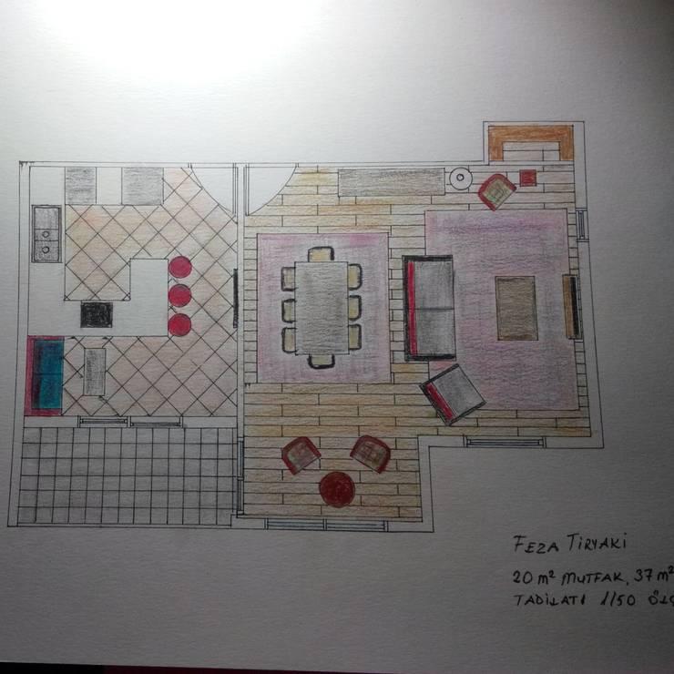 Fetirim İç Mimarlık ve Dekorasyon – Tadilat projesi:  tarz Evler
