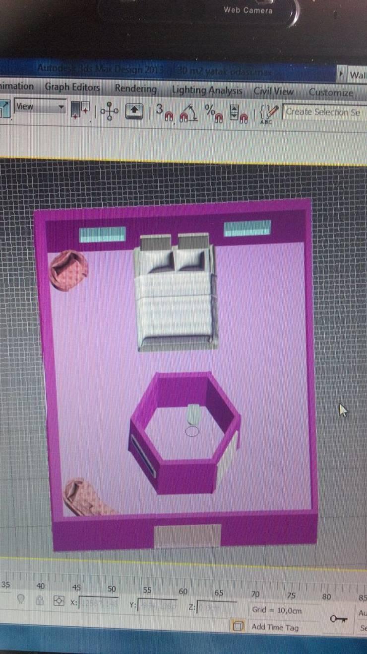 Fetirim İç Mimarlık ve Dekorasyon – 3DS Max Görselleme projesi:  tarz Yatak Odası
