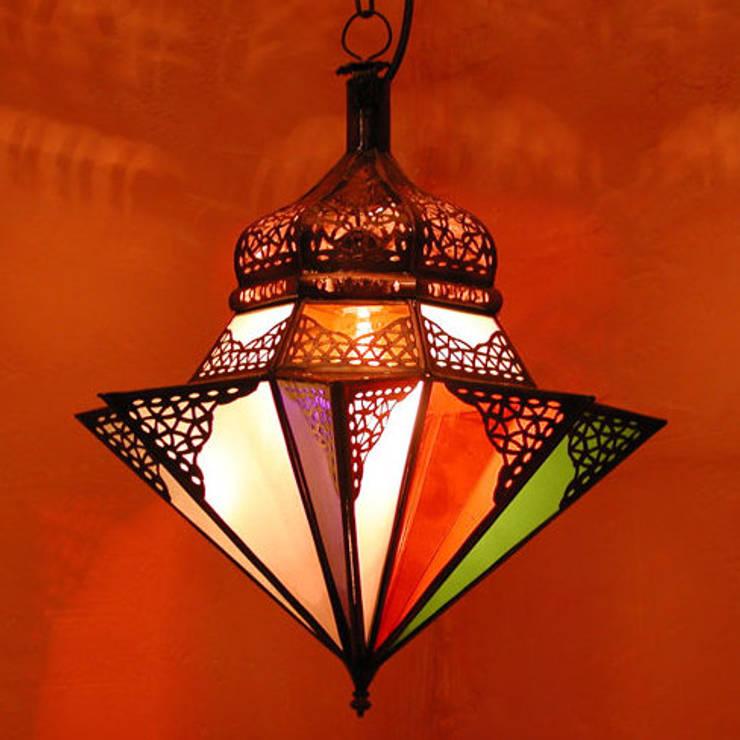 """Marokkaanse hanglamp """"jawhara"""" :   door Orientflair, Mediterraan"""