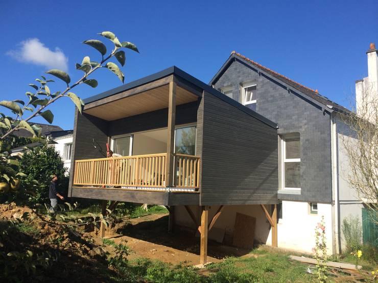 Pourquoi choisir une extension en bois sur pilotis - Agrandissement maison veranda ...