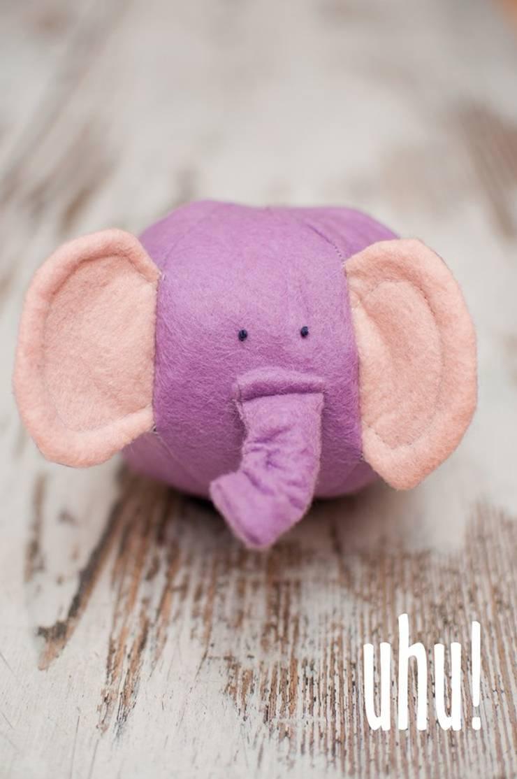 Kuliste zwierzaki - słoń: styl , w kategorii Pokój dziecięcy zaprojektowany przez uhu!