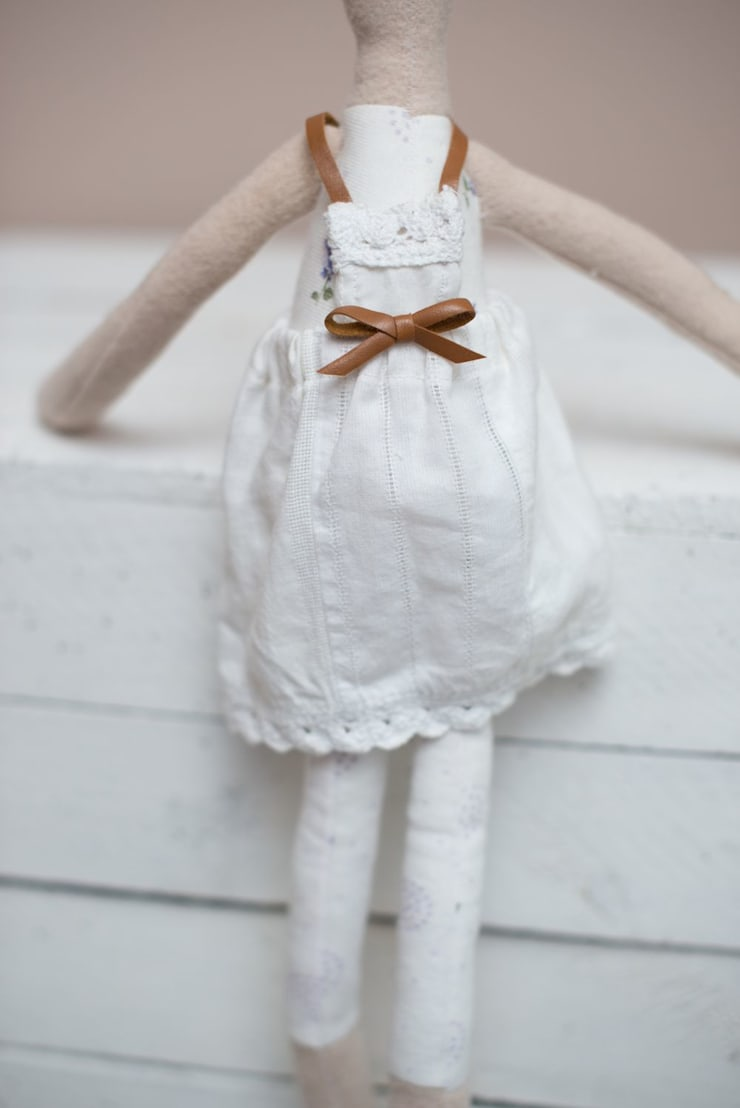 Lalka Gosia: styl , w kategorii  zaprojektowany przez uhu!,Minimalistyczny Bawełna Czerwony