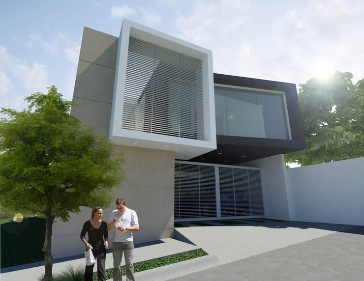 CASA M y E: Casas de estilo  por Flores Rojas Arquitectura