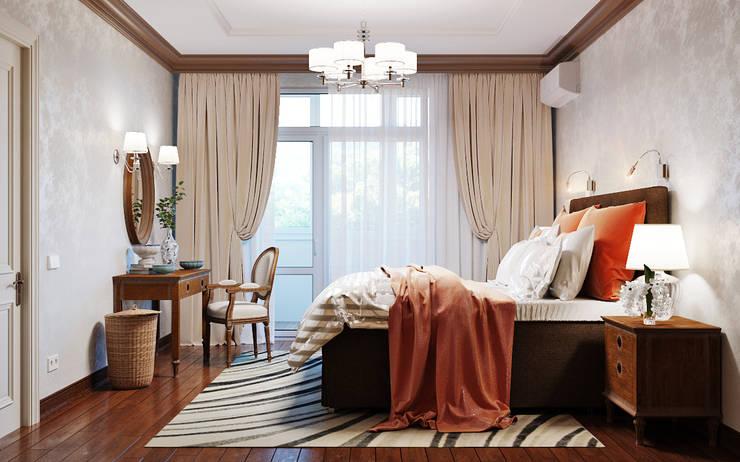 Яркие краски осени в интерьере спальни: Спальни в . Автор – Студия дизайна Interior Design IDEAS