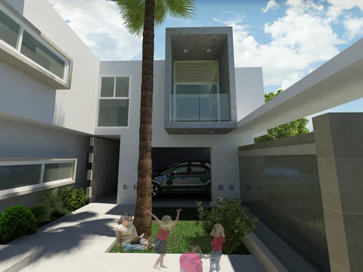CASA CAÑADA DEL REFUGIO: Casas de estilo  por Flores Rojas Arquitectura