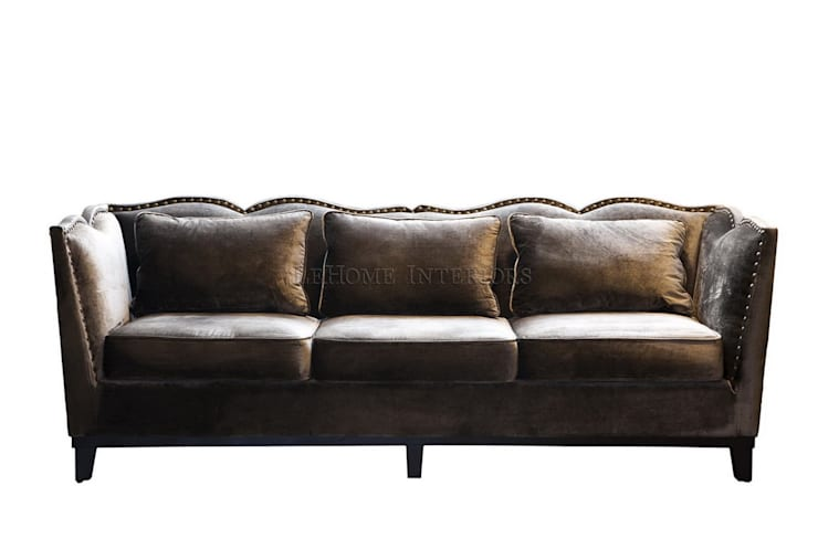 Диван Fabrice Velvet Sofa S001: Гостиная в . Автор – LeHome Interiors