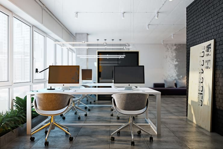 SMALL OFFICE IN KIEV: Рабочие кабинеты в . Автор – Виталий Юров