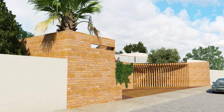 Jardín de eventos Le Mite: Casas de estilo  por Flores Rojas Arquitectura
