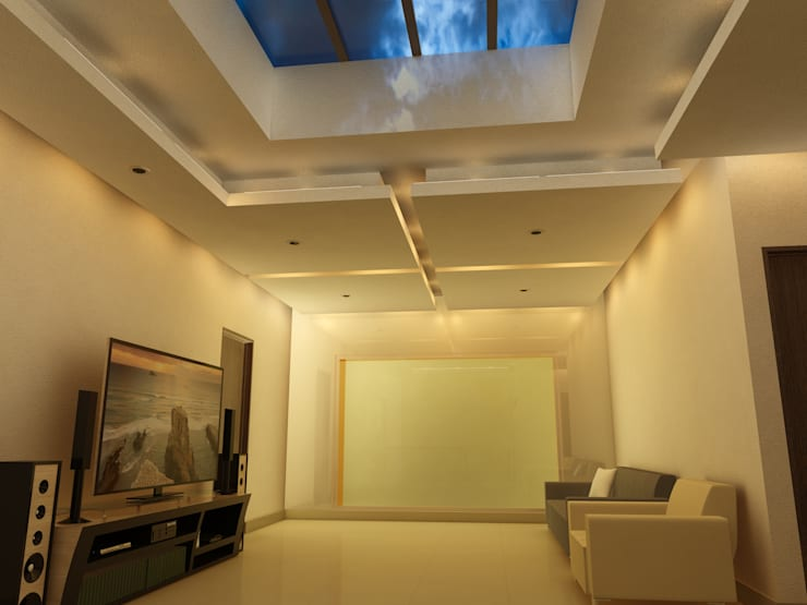 Remodelación Casa Lomas de Arbide: Salas de estilo  por Flores Rojas Arquitectura