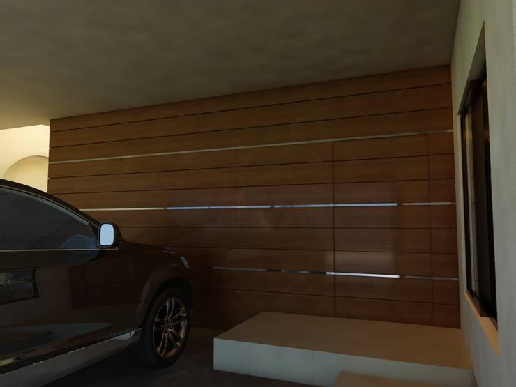 Remodelación Casa Lomas de Arbide: Garajes de estilo  por Flores Rojas Arquitectura