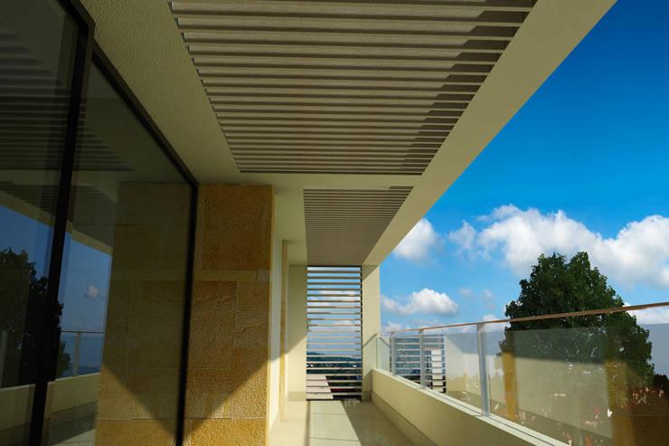 Remodelación Casa Lomas de Arbide: Terrazas de estilo  por Flores Rojas Arquitectura