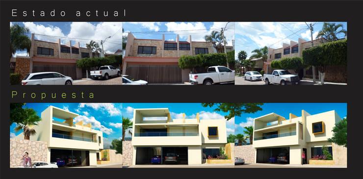 Casas de estilo  de Flores Rojas Arquitectura