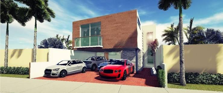 Proyectos y Espacios: Casas de estilo  por Martin Pozos Arquitecto