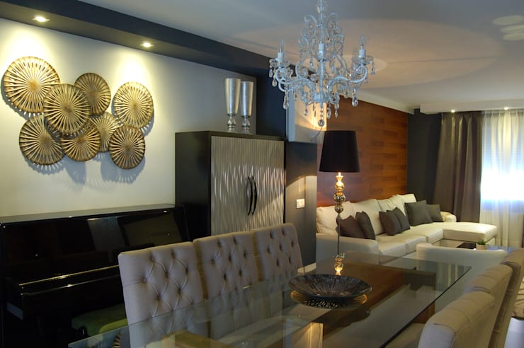 Vivienda en Getafe, Madrid: Comedores de estilo  de Arquitectura de Interior