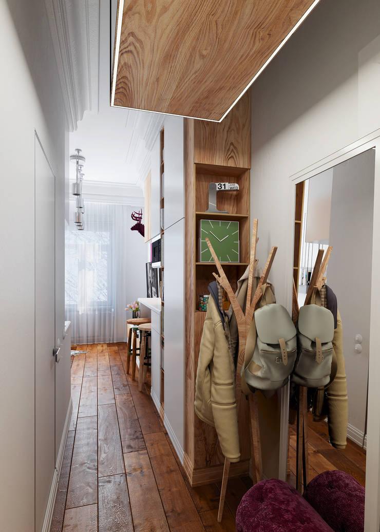 Pasillos y hall de entrada de estilo  por Vashantsev Nik, Ecléctico