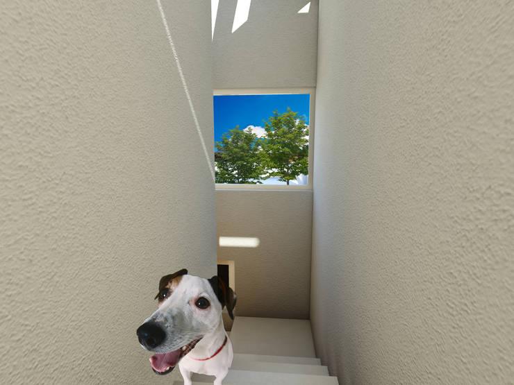 Remodelación  Tiber 107: Pasillos y recibidores de estilo  por Flores Rojas Arquitectura