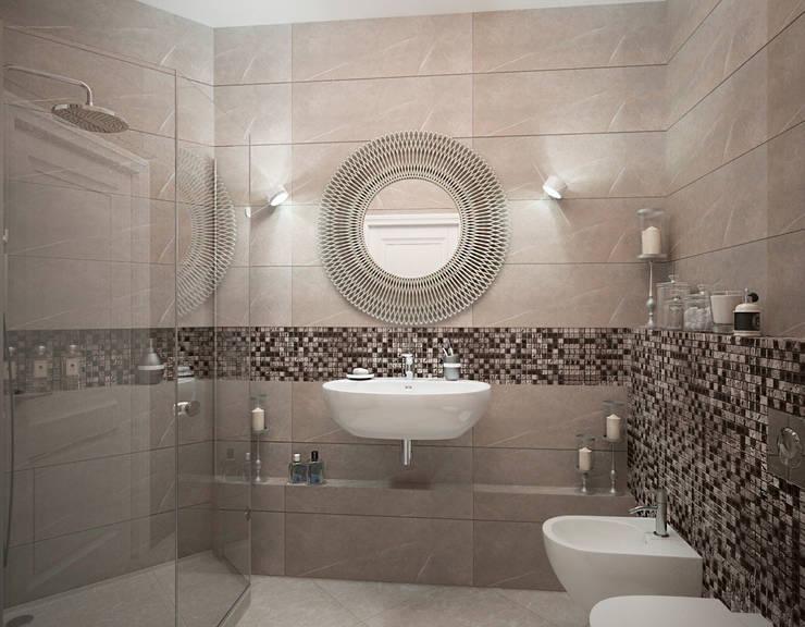 Квартира на 23-ем этаже. Классика в современной интерпретации.: Ванные комнаты в . Автор – Виталия Бабаева и Дарья Дикая