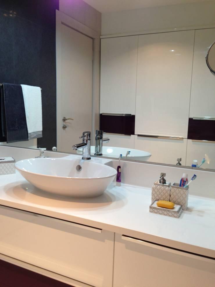 GENT İÇ MİMARLIK – ETİLER KONUT:  tarz Banyo, Modern