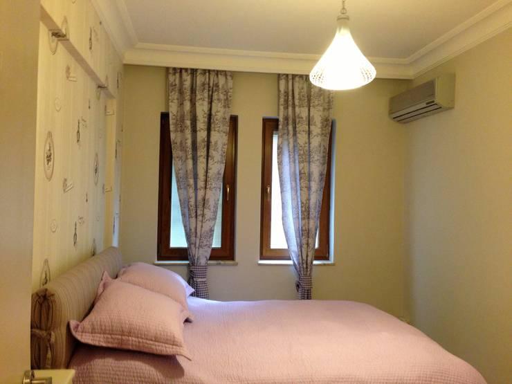 GENT İÇ MİMARLIK – ETİLER KONUT:  tarz Yatak Odası, Modern