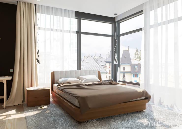"""Квартира - студия """"Praga"""": Спальни в . Автор – 2GO Design Studio"""