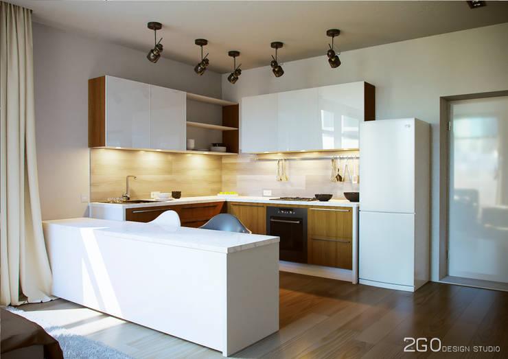 """Квартира - студия """"Praga"""": Кухни в . Автор – 2GO Design Studio"""