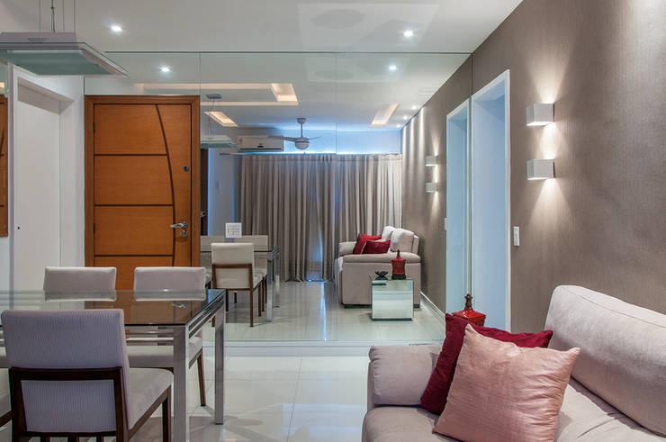 Sala de Estar e Jantar: Salas de estar  por Millena Miranda Arquitetura