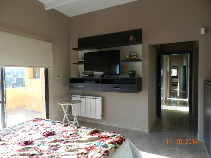 غرفة نوم تنفيذ ART quitectura + diseño de Interiores. ARQ SCHIAVI VALERIA