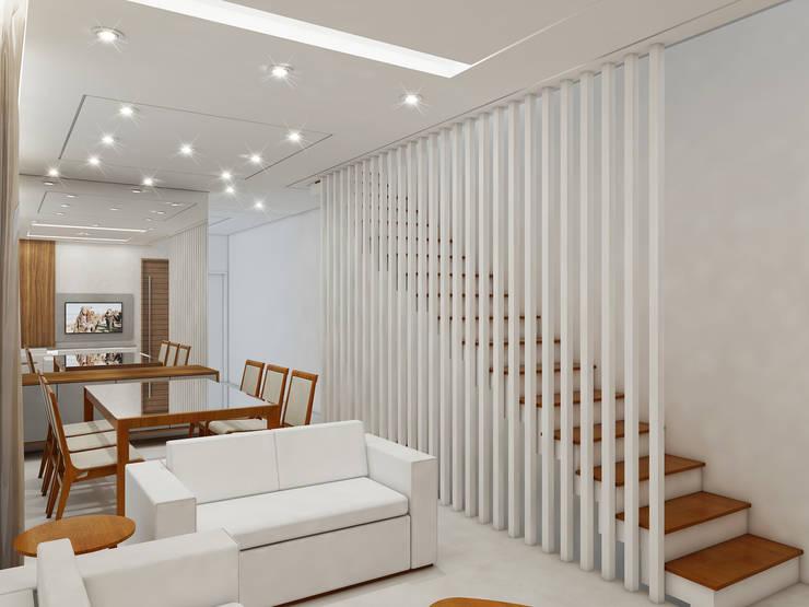 Pasillos y recibidores de estilo  por Merlincon Prestes Arquitetura