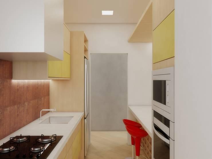 Apartamento FL: Cozinhas  por Merlincon Prestes Arquitetura