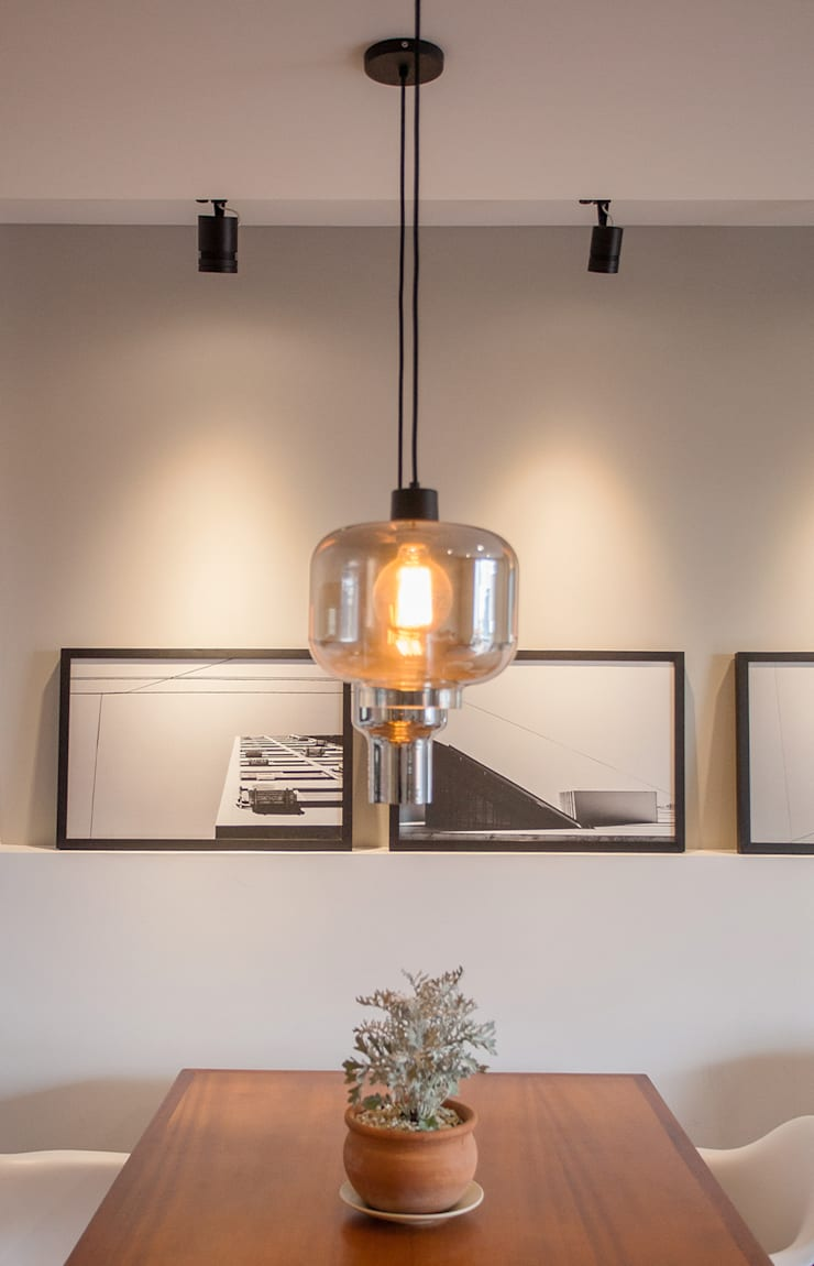 Comedores de estilo  de F studio arquitetura + design, Moderno