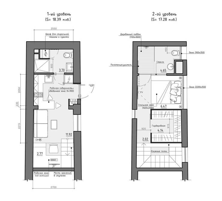 Residential house reconstruction with addition of a mansard floor: Стены в . Автор – Denis Svirid