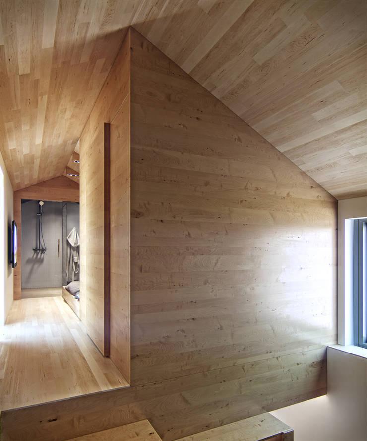 Residential house reconstruction with addition of a mansard floor: Коридор и прихожая в . Автор – Denis Svirid