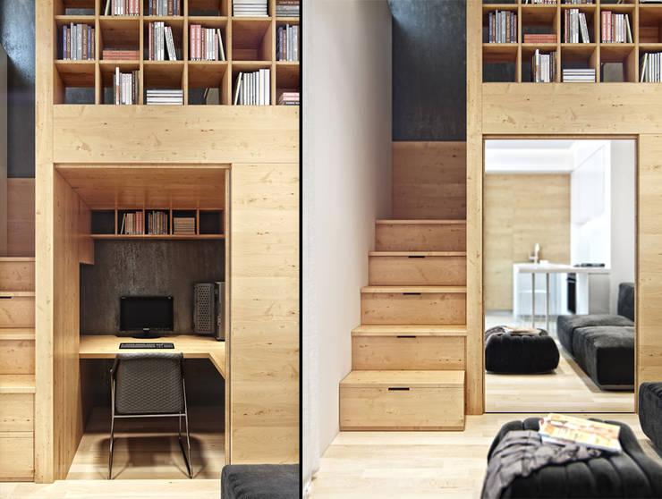 minimalistische Arbeitszimmer von Denis Svirid