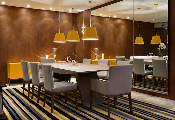 Decora Líder Brasília - Estar e Jantar: Salas de jantar modernas por Lider Interiores