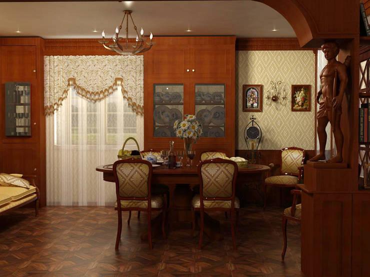 сталинка: Столовые комнаты в . Автор – студия Виталии Романовской