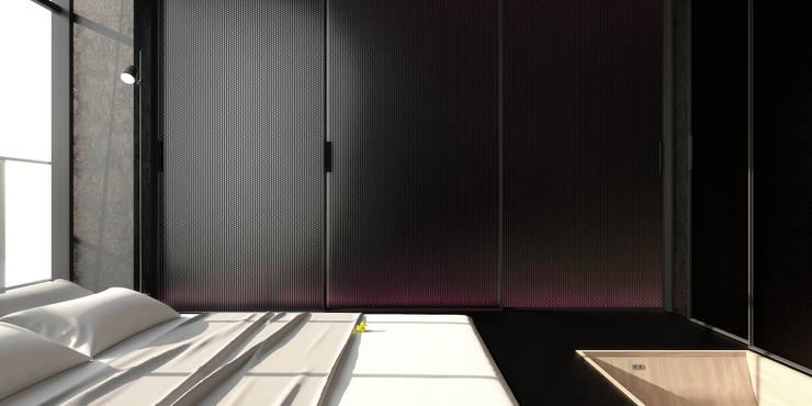 ik1-house: Спальни в . Автор – IGOR SIROTOV ARCHITECTS, Минимализм