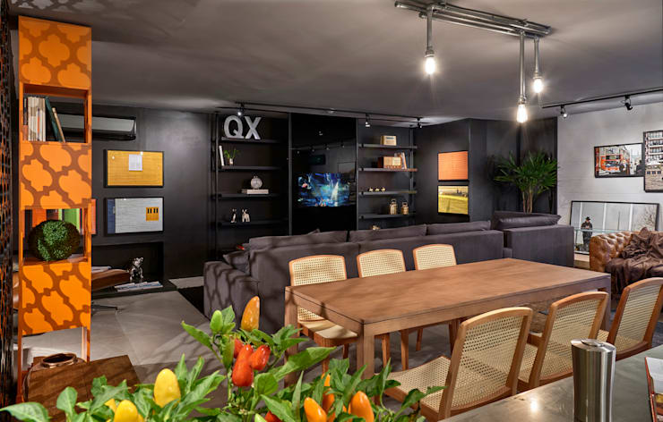 Decora Líder Brasília – Loft Soho: Salas de jantar  por Lider Interiores