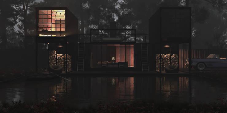 id1-house: Дома в . Автор – IGOR SIROTOV ARCHITECTS,