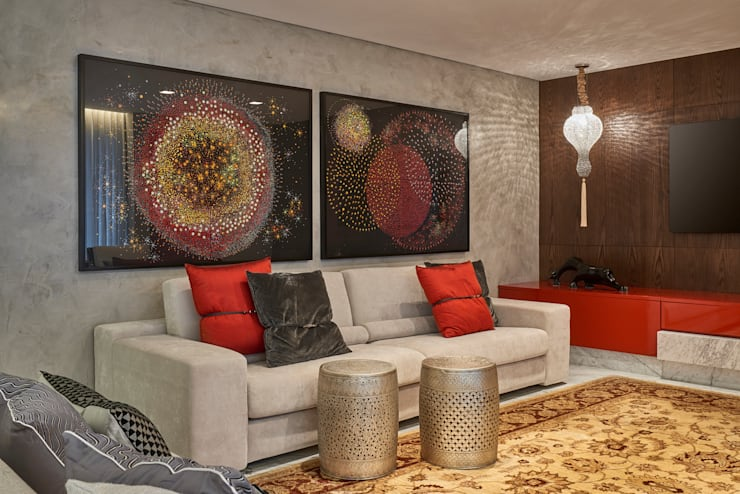 Apartamento MV: Salas de estar  por Isabela Canaan Arquitetos e Associados,Moderno