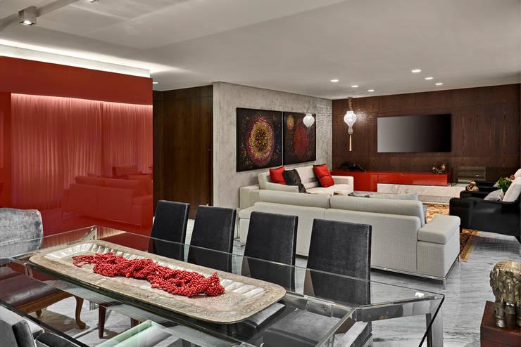 Apartamento MV: Salas de jantar  por Isabela Canaan Arquitetos e Associados