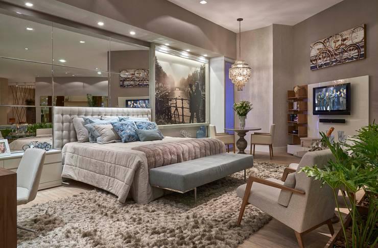 Decora Líder Belo Horizonte – Amsterdam Couple Bedroom: Quartos  por Lider Interiores