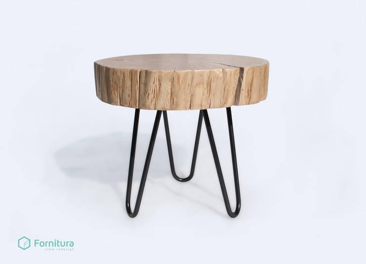 Stolik z pnia dębowego - hairpin: styl , w kategorii Salon zaprojektowany przez Fornitura