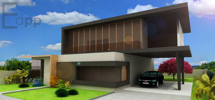 Residência Joinville: Casas  por Estúdio Criativo Arquitetura e Interiores,Moderno