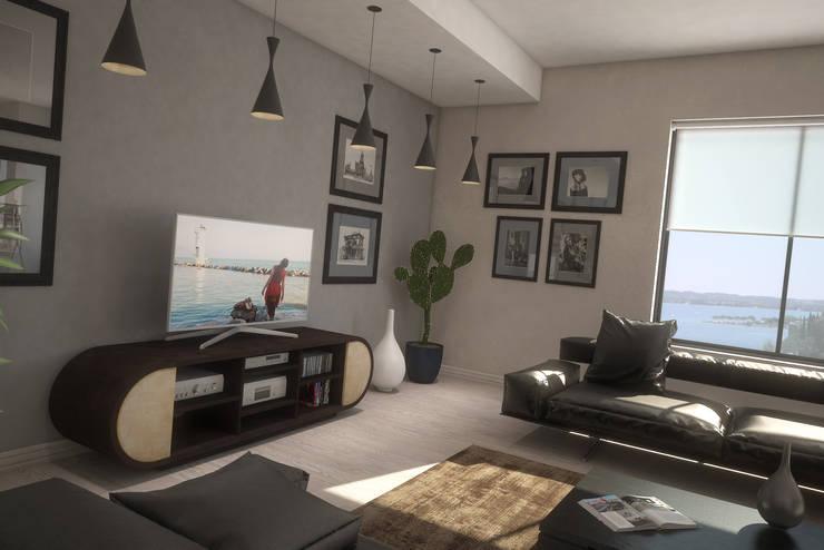 Living G&C: Soggiorno in stile in stile Moderno di Ivan Rivoltella