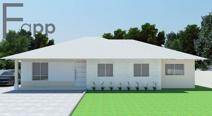 Casa de Campo em Garuva: Casas  por Estúdio Criativo Arquitetura e Interiores