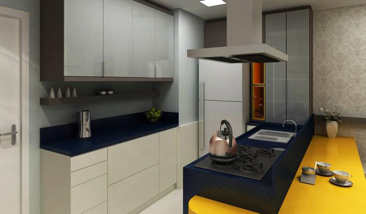 Apartamento Eduardo e Fernanda: Cozinha  por Estúdio Criativo Arquitetura e Interiores
