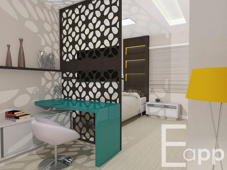 Quarto de Adolescente: Quarto  por Estúdio Criativo Arquitetura e Interiores