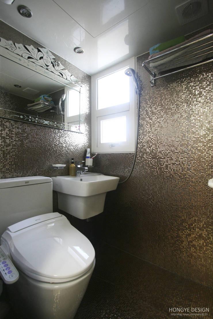 파스텔톤의 따뜻한 신혼집 _ 33py: 홍예디자인의  욕실